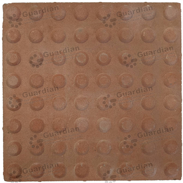 Concrete Warning Tactile (400x400x40mm) - Smooth Red [GTI-01CW-44SRD]