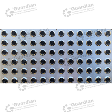 316 Warning Tactile Plate with Black TPU (600x300mm) [GTS600300-316TPUBK]