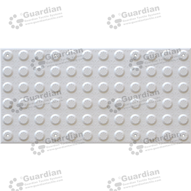 FRP Warning Tactile with Adhesive & Mechanical Fixings (600x300mm) - White [GTS600300-FRW]