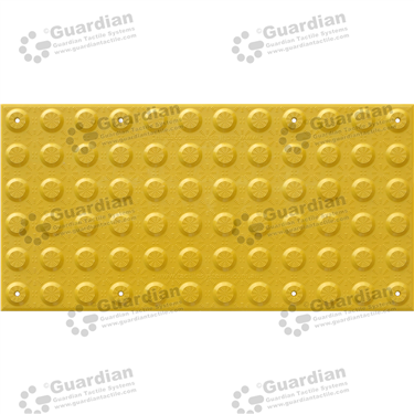 FRP Warning Tactile with Adhesive & Mechanical Fixings (600x300mm) - Yellow [GTS600300-FRY]