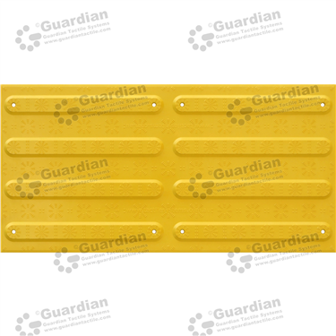 FRP Directional Tactile with Adhesive & Mechanical Fixings (600x300mm) - Yellow [GTS600300-FRYD]