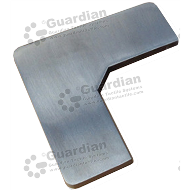 Skateboard Deterrent Wedge (80x80x30mm) - Stainless Steel [GSD-01WDG-316]