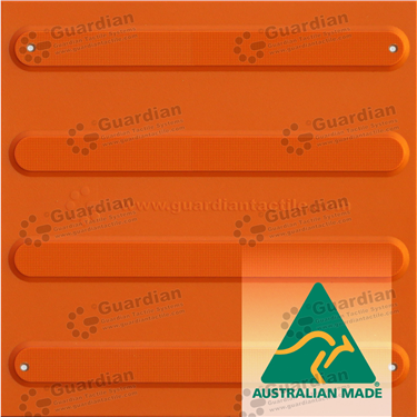 TPU Directional Tactile with Adhesive & Mechanical Fixings (300x300mm) - Terracotta [GTS3DSF-TR]