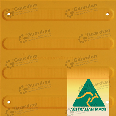 Directional Tactile (Mechanically Fixed) 300x300 - Yellow [GTS3DSF-YL]
