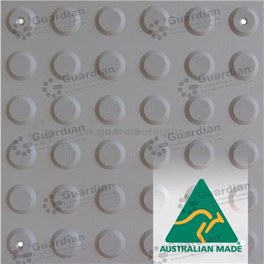 Warning Tactile (Mechanically Fixed) 300x300 - Medium Grey [GTS3WSF-MG]