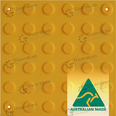 Warning Tactile (Mechanically Fixed) 300x300 - Yellow [GTS3WSF-YL]