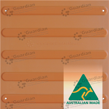 TPU Directional Tactile with Adhesive & Mechanical Fixings (400x400mm) - Terracotta [GTS4DSF-TR]