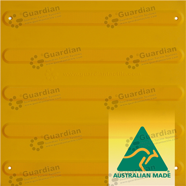 Directional Tactile (Mechanically Fixed) 400x400 - Yellow [GTS4DSF-YL]